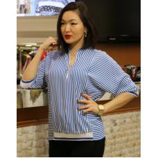 Блузка в белую полоску
