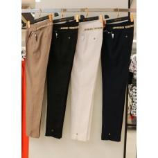 Льняные зауженные брюки