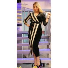 Behcetti черное бархатное платье