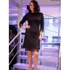 Ажурное черное платье Norm
