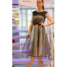 Платье с юбкой из органзы