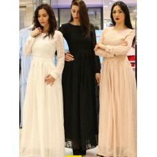 Длинное ажурное платье