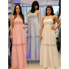 Длинное платье с вышивкой