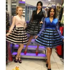 Платье с полосатой юбкой DShe