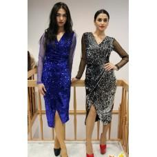 Платье в пайетках DShe