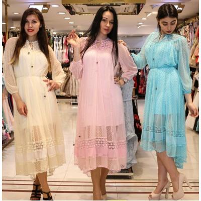 Платье полупрозрачное с ремешком