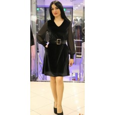Черное бархатное платье Aron