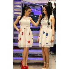 Платье с ажуром